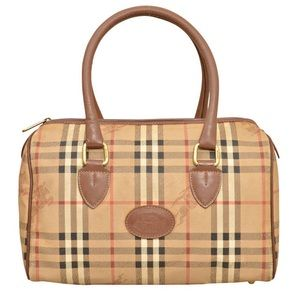 Burberry London Speedy Style Haymarket Bag